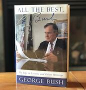 Hand Signed 1st President George H. W. Bush All The Best Hcdj Letters Fine