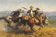 Andy Thomas Desperate Ride Canvas Giclee 30x20
