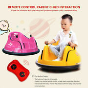Kids Electric 6v Ride On Bumper Car W/ Remote Control Toddler Toys With Light