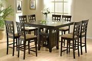 Coaster Home Furnishings 9 Piece Counter Height Storage Dining Table And Chair Set