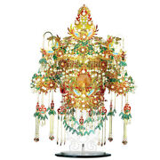 Golden Wing Bird Chinese Dynasty Crown Hair Crest Metal Puzzle 3d Piececool