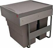 Hafele Waste Bin Pull-out, Hailo Easy Cargo 50, Double Trash Can 30liters And