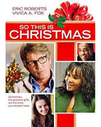New So This Is Christmas 2013 Dvd Movie Eric Roberts, Vivica A Fox