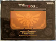 Nintendo New 3ds Ll Hyrule Edition Gold Color The Legend Of Zelda Adapter And Case