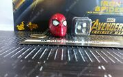 Hot Toys Mms482 Infinity War Iron Spider-man 1/6 Action Figure's Led Masked Head