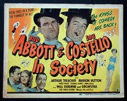 Abbott And Costello In Society 1944 Title Card
