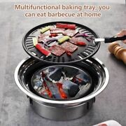 Korean Charcoal Barbecue Grill Stainless Steel Non-stick Tray Portable Charcoal