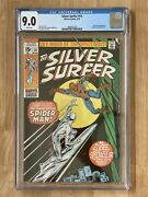Silver Surfer 14 Cgc 9.0 1970 White Pages Spider Man Crossover