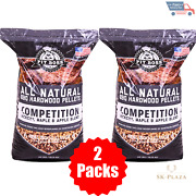 2 Pack 40 Lb Pit Boss Competition Blend Bbq Pellets Smoker Grill Barbecue Wood