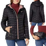 New Reebok Womenand039s Glacier Shield Ultra Light Quilted Puffer Jacket 145 Black