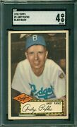 Andy Pafko 1952 Topps 1 Black Back Sgc 4 Near Perfect Centering/tough