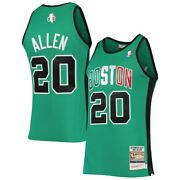 Boston Celtics Ray Allen 20 Mitchell And Ness Green 2007-08 Authentic Nba Jersey