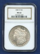 1880 O Ngc Ms62 Morgan Silver Dollar 1 Key Date Coin 1880-o Ms-62 Looks Pl