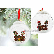 2015 Disney Store Chip 'n' Dale Glass Globe Campfire Sketchbook Ornament Boxed