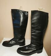 Soviet Russian Military Uniform Officer Leather Boots Chrome Size 43 Wide