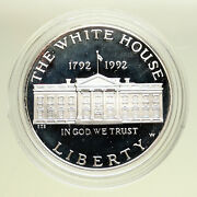 1992 W United States Usa White House Bicentenary Proof Silver Dollar Coin I95097