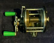Vintage Penn Baymaster Conventional No.180 Double Green Handled Fishing Reel
