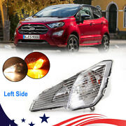Driver Side Fog Light For Ford Ecosport 18-20 Clear Turn Signal Lamp Replacement