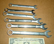 Vintage 6 Craftsman Combination Metric Wrenches 16,15,14,13,11,10 Mm,old Tools