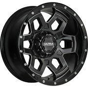 4- 20x10 Black Milled Ultra Warlock 6x135 And 6x5.5 -25 Rims Courser Mxt 35 Tires