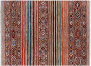5and039 10 X 7and039 10 Hand-knotted Super Kazak Khorjin Wool Rug - Q11221