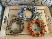 Qvc Valerie Parr Hill Assorted Set Of 3 Candle Rings Holiday Autumn Spring
