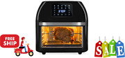 16.9qt 1800w 10-in-1 Family Size Air Fryer Countertop Oven, Rotisserie, Dehydra