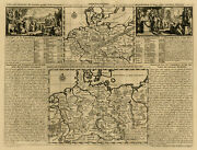 Antique Print-maps Of Ancient Germany-spread Of People-europe-chatelain-1732