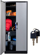 Fedmax Metal Garage Storage Cabinet - 71-inch Tall, Large Industrial Locker With