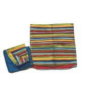 Pier 1 Imports Discontinued Shams Pillowcases Covers Pair Colorful Faux Silk Zip