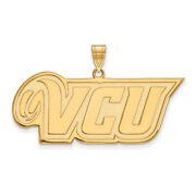 14k Yellow Gold Virginia Commonwealth U. Large And039vcuand039 Pendant