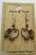 Spirit Of Nature Earrings Pomeranian Dog Beads- French Wire
