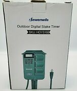 Jewenwils Outdoor Digital Stake Timer Landscaping 8 On/off Settings 6 Grounded