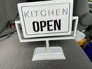 Store Counter Enamaled Kitchen Open Close Revolving Sign