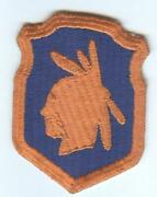 Ww 2 Us Army 98th Infantry Division Triple Border And Scared Cheek Patch Inv F071