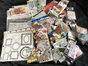 Huge Lot Of Scrapbook Embellishments Stickers Die-cuts Ephemera Cut-outs And Paper