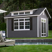 Made In The Usa 10' X 12' Storage Shed Kit + Floor Pool House Office Workshop