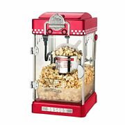 6073 Great Northern Red Little Bambino Table Top Retro Machine Popcorn Popper, 2