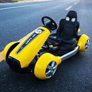 Electric Car Kids Dual Drive Four-wheel With Remote Control Bluetooth Led Light