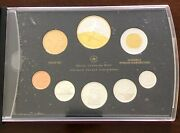 2009 Canada Proof Set Silver Coins Gold Plated Dollar Low Mintage Free Shipping