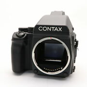 Contax 645 Ae Prism Finder 120 Film Holder Included -near Mint- 62