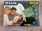 New D-link Digital Home Solutions Pci Usb Adapter Dsb-500 Sealed