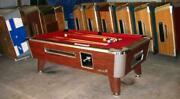 7and039 Valley Commercial Coin-op Pool Table Model Zd-4 New Red Cloth