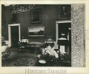 1962 Press Photo Empire Period Antiques Decorated The Red Room Of White House