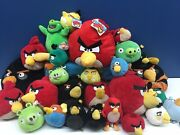 Used Lot 27 Angry Birds Plush Toys Pigs Large Medium Small Up To 12 Long