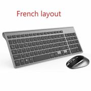 Wireless Keyboard Mouse Abs Plastics Suitable Ergonomic Gaming Pc Home Console