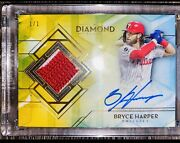 Bryce Harper 1/1 Autographed Relic Diamond Icons 2020 Topps
