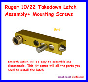 Ruger 10/22 Takedown Latch Assembly+ Mounting Screws Gold Anodizing