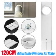 2pcs 67-120cm Window Kit Plate W/6'' Round Adapter For Portable Air Conditioner