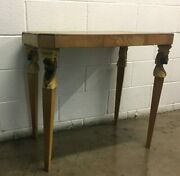 Antique Solid Wood Venetian Table With Hand Carved Moors Busts Legs Late 1800's